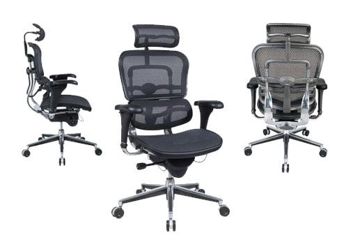 fotos da Cadeira Ergohuman de frente, lado e costas